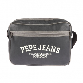 Porte ordinateur/ documents Pepe Jeans en simili cuir patiné noir