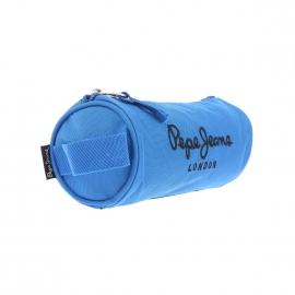 Trousse ronde Pepe Jeans en toile bleu azur