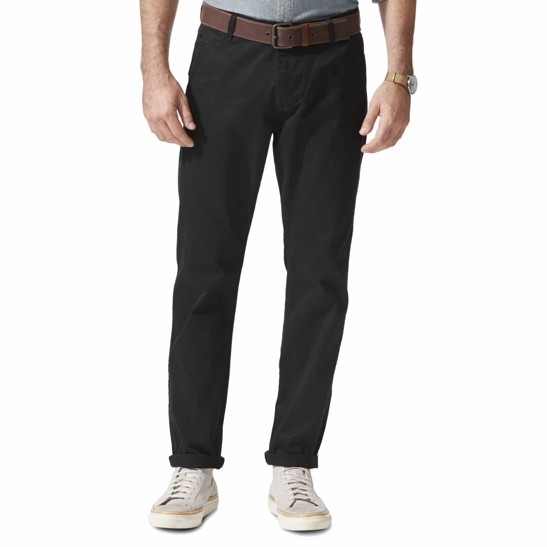 Pantalon alpha khaki original slim tapered  en twill noir