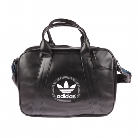 Porte-documents et ordinateur Adidas en simili cuir noir
