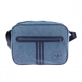 Porte-documents/ ordinateur Adidas en simili cuir suèdé bleu orage à bordures bleu marine