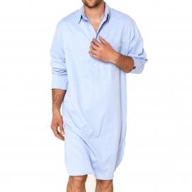 Liquette chemise Arthur en coton bleu ciel