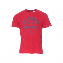 Tee-shirt col rond Levi's Strauss San Francisco rouge