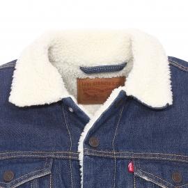 Blouson en jean Levi's Buckman bleu foncé avec doublure effet peau de mouton
