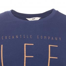 Tee-shirt col rond Lee bleu marine imprimé