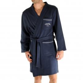 Kimono court Randy Christian Cane bleu marine