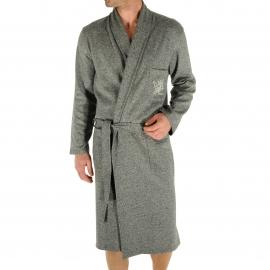 Robe de chambre Russel Christian Cane gris clair chiné