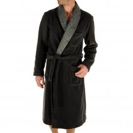 Robe de chambre Ray Christian Cane gris anthracite à col châle gris chiné
