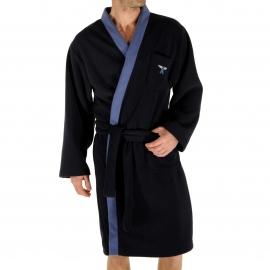 Kimono Ronsard Christian Cane bleu marine à col bleu gris