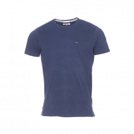 Tee-shirt Hilfiger Denim bleu marine avec poche poitrine
