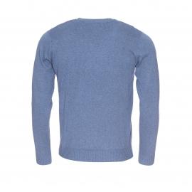 Pull col V Pulser Teddy Smith en coton bleu clair chiné