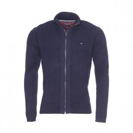 Gilet zippé Simon Tommy Hilfiger en mailles tricotées bleu marine