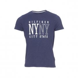 Tee-shirt Austin Tommy Hilfiger bleu marine à large flocage blanc