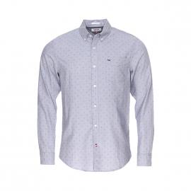 Chemise ajustée Hilfiger Denim grise  à petits motifs flocons de neige