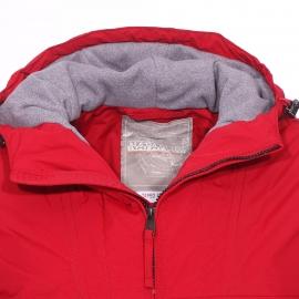 Veste Napapijri Rainforest Winter rouge à doublure polaire grise