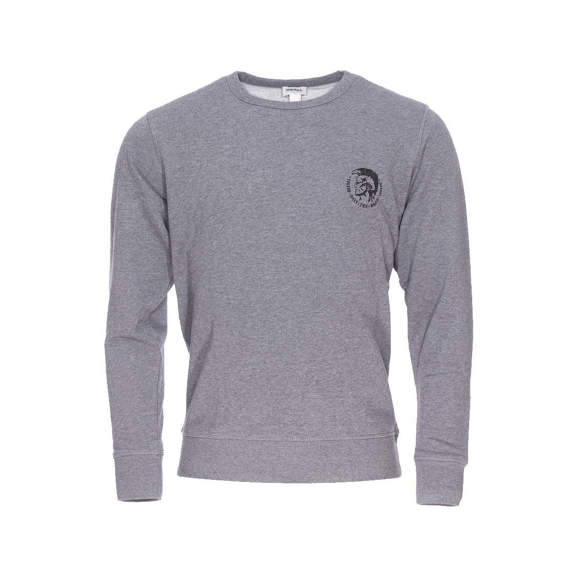 0a0d36958ecf Sweat col rond Diesel Willy gris chiné ...