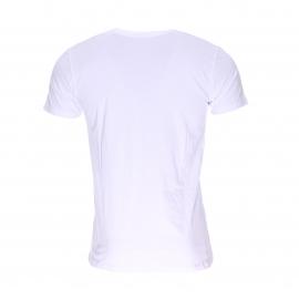 Tee-shirt col V Diesel en coton stretch blanc