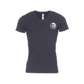 Tee-shirt col V Diesel en coton stretch noir