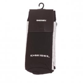 Chaussettes Diesel noires à bordures grises
