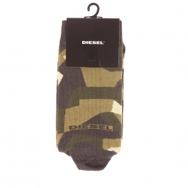Chaussettes Diesel à motifs effet camouflage kaki, anthracite et vert clair