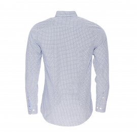 Chemise cintrée Tommy Hilfiger Alexander blanche à motifs bleus