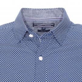 Chemise cintrée Tommy Hilfiger Einston bleu marine à petits pointillés blancs