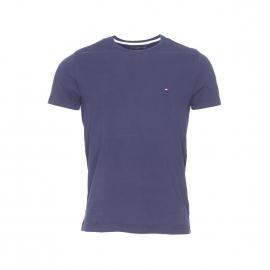 Tee-shirt col rond Tommy Hilfiger Flag en coton biologique bleu marine