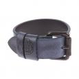 Bracelet Diesel en cuir bleu marine fermé par une boucle de ceinture