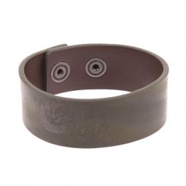 Bracelet Diesel en cuir vert foncé fermé par des boutons pression