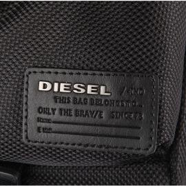 Porte-ordinateur/documents Diesel en tissu noir quadrillé