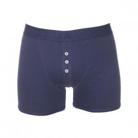 Boxer long Levi's en coton stretch à côtes fines bleu marine et braguette boutonnée