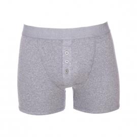Boxer long Levi's en coton stretch à côtes fines gris chiné et braguette boutonnée