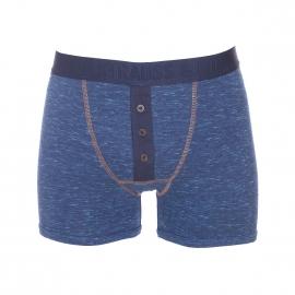 Boxer long Levi's en jersey de coton stretch bleu effet jean à braguette boutonnée