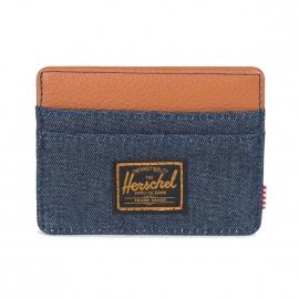Porte-cartes Herschel Charlie bleu jean
