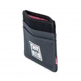 Porte-cartes Herschel Charlie anthracite et noir