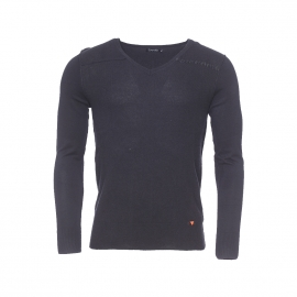 Pull col V Deepend noir