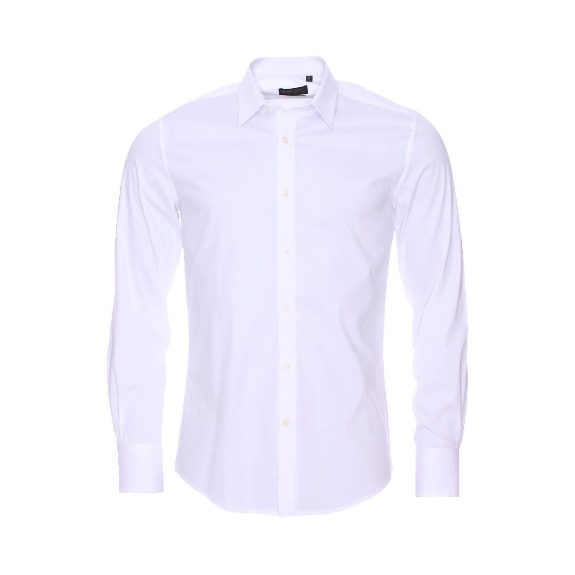 Chemise extra slim  blanche aspect satiné