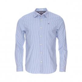 Chemise cintrée Hilfiger Denim à rayures bleues et blanches