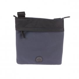 Sacoche plate Lisboa Chabrand en toile bleu foncé et noire