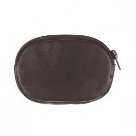Porte-monnaie ovale Chabrand en cuir noir