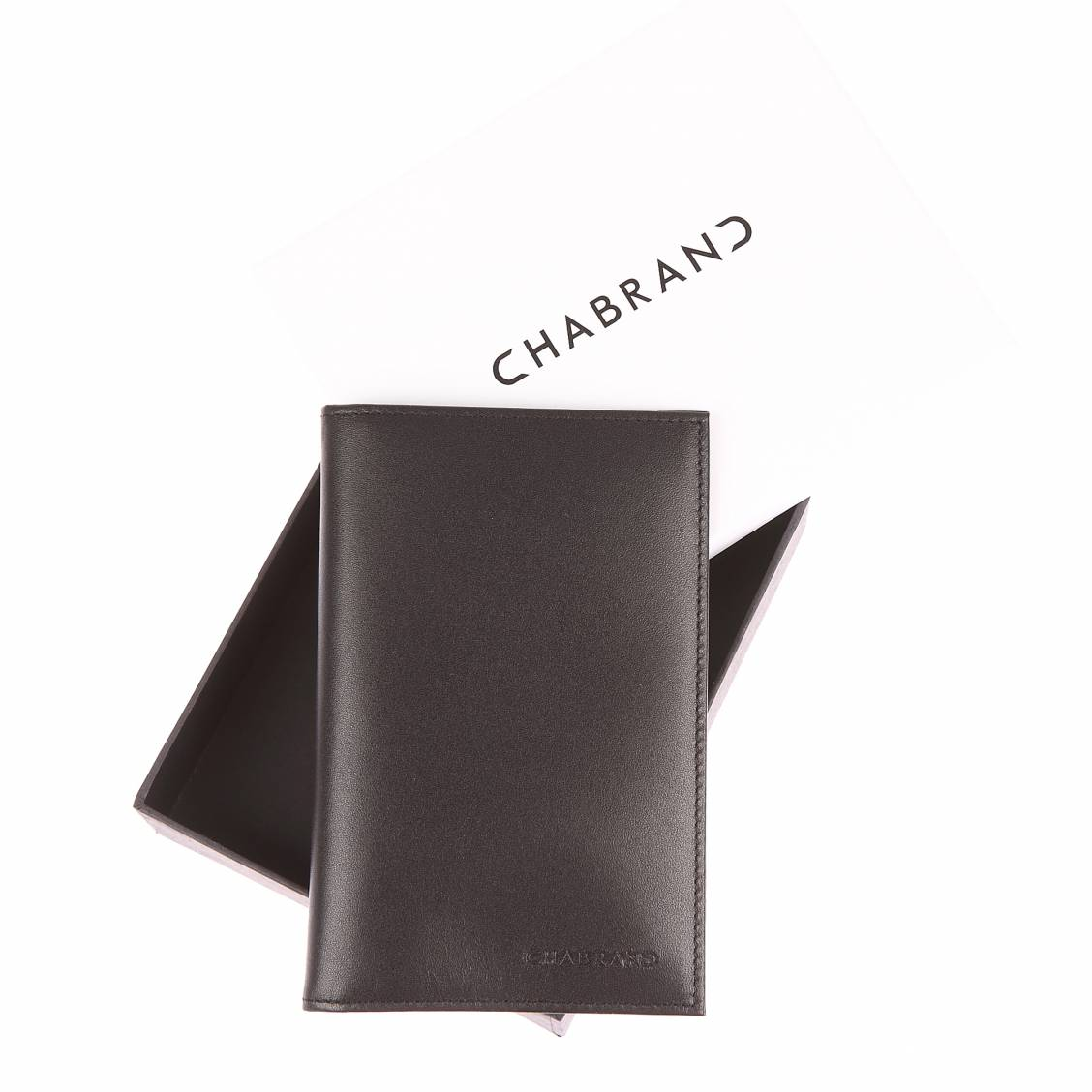 Porte-papiers Chabrand en cuir noir vu6YO