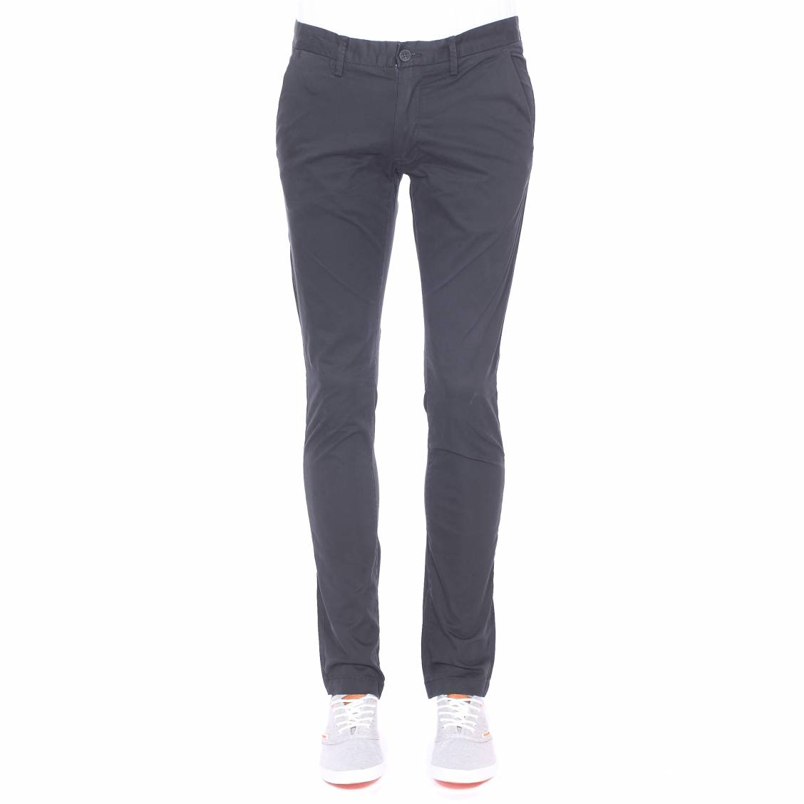 Pantalon chino slim Teddy Smith noir