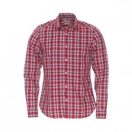 Chemise cintrée Napapijri en coton à carreaux rouges, bleu marine et beiges