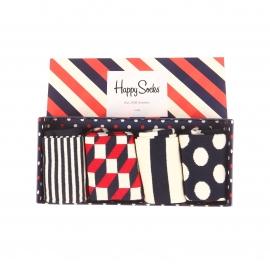 Lot de 4 paires de chaussettes Happy Socks en coton bleu marine et rouge