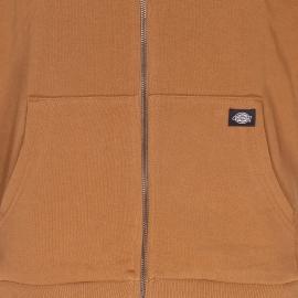 Sweat zippé à capuche Kingsley Dickies camel floqué du logo