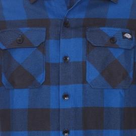 Chemise droite Sacramento Dickies en coton à carreaux bleus et noirs