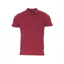 Polo The Fresh Brand en coton bordeaux à motif dièse