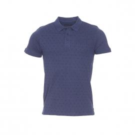 Polo The Fresh Brand en coton bleu marine à motif dièse