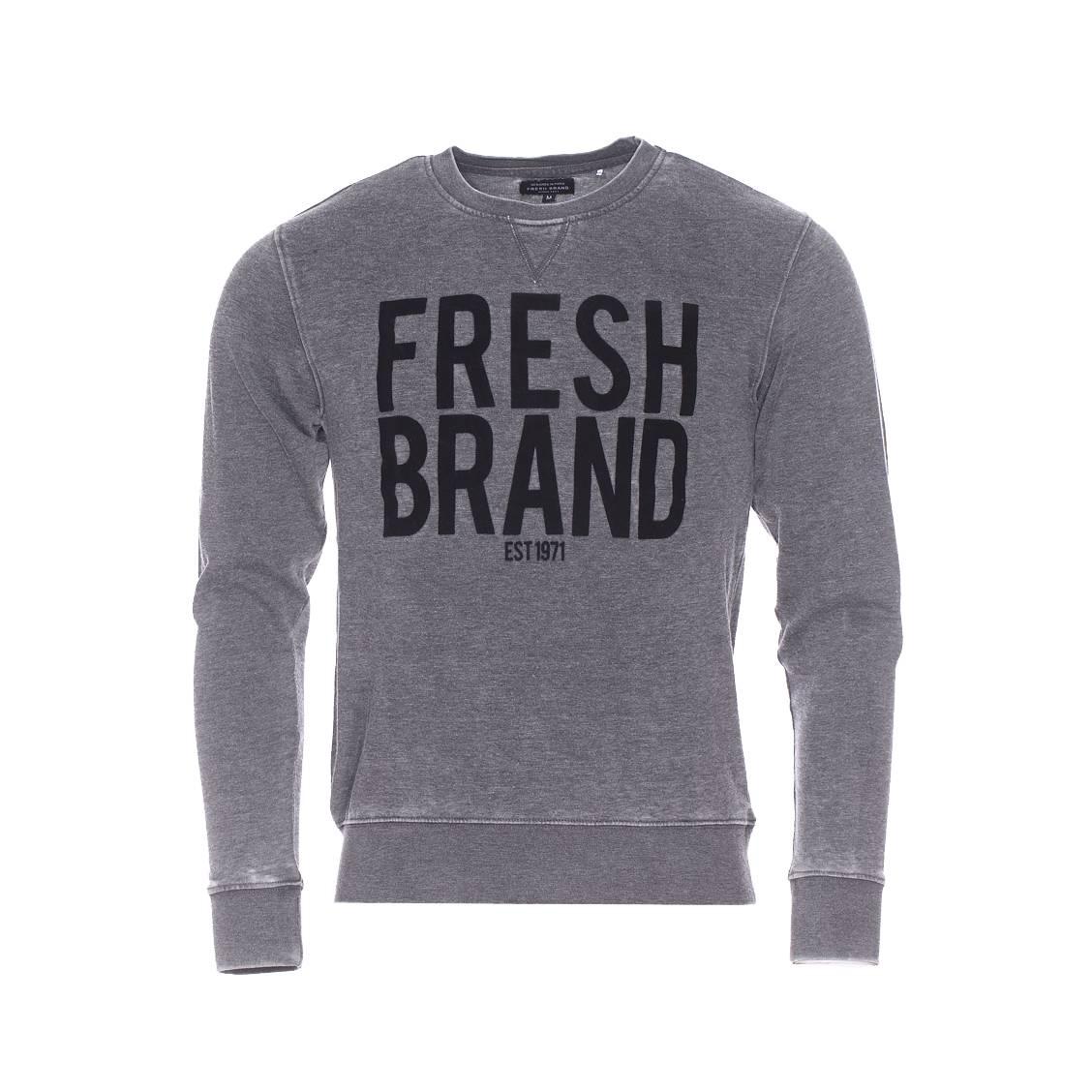Sweat The Fresh Brand gris vintage floqué