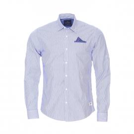 Chemise ajustée Scotch and Soda en coton à rayures bleues et blanches